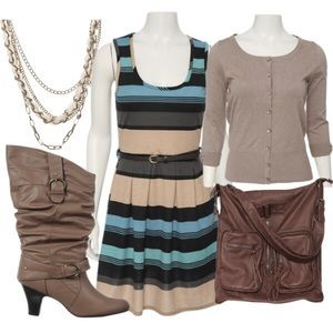 Rue21 Brown 2 Buckle Boots